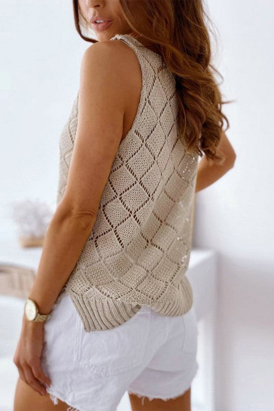 Love You Girl Top: Taupe