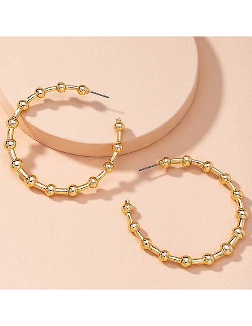 Narli Gold Beaded Hoop