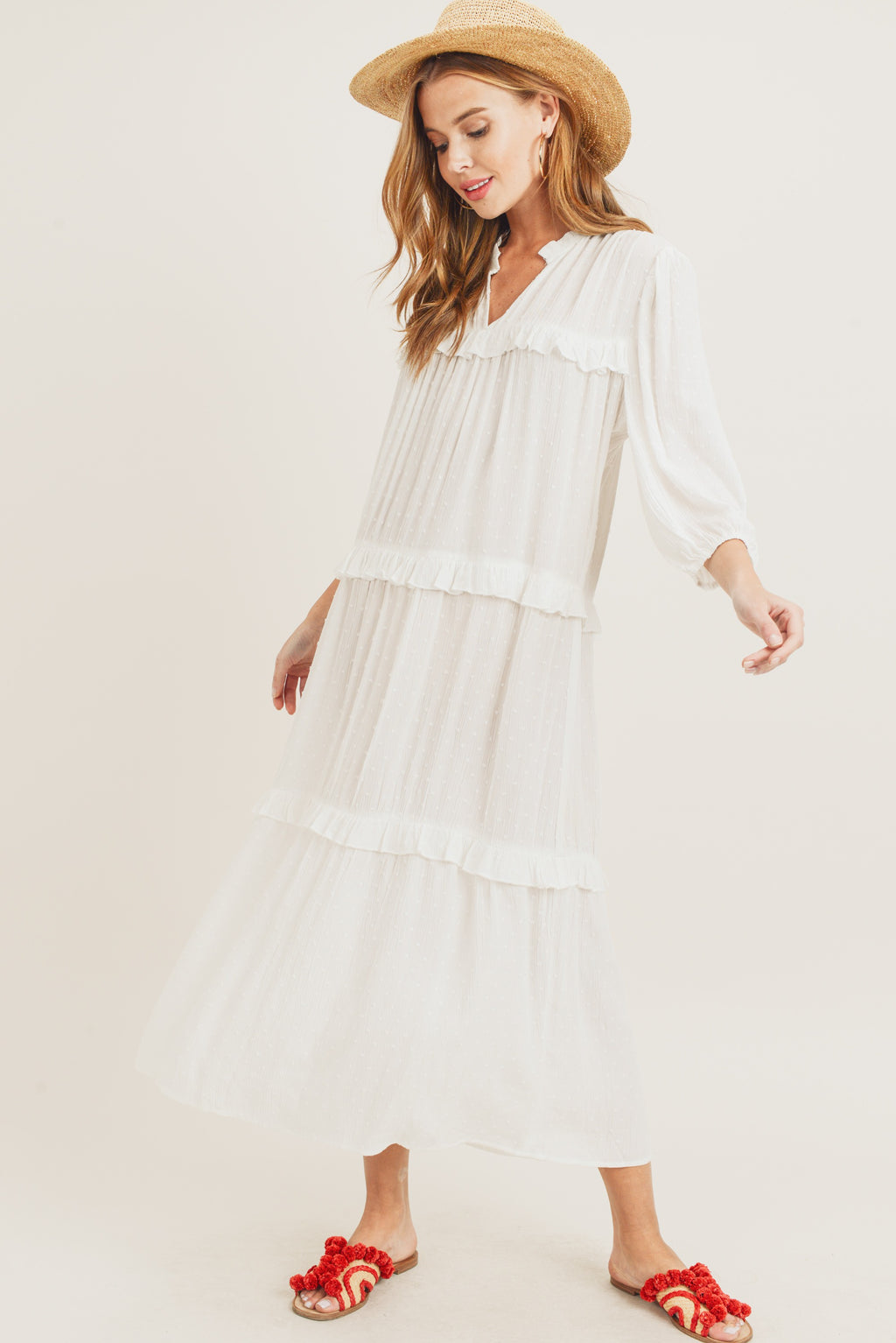 New Threads Dress: White