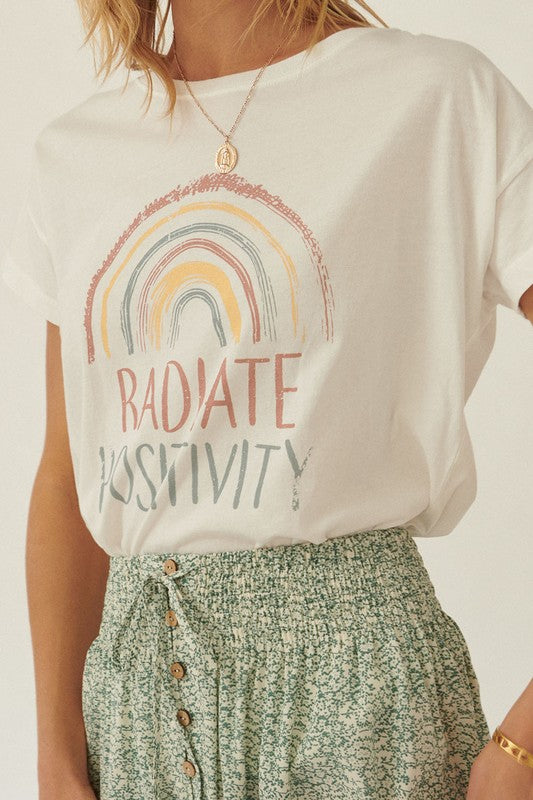 Radiate Positivity Graphic Tee