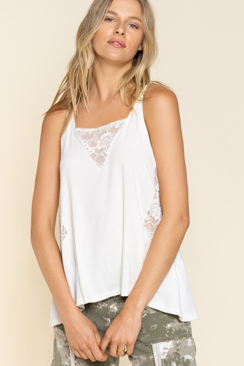 Let's Get Away Tank: White