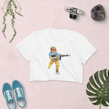 "Load image into Gallery viewer, Pew Is Life ""Kid Again"" Women's Crop Top"