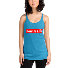 Load image into Gallery viewer, Pew Is Life Women's Racerback Tank