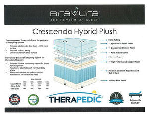 Crescendo Plush Hybrid by Therapedic