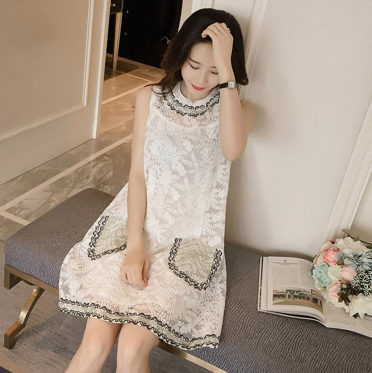 Lovely White Lace Short Dress, Summer Dress, Fashion Girl Dress