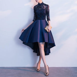 Black/Navy Elegant Party Dress SP14476