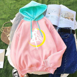 Pink Sailor Moon Hoodie Jumper SP13427