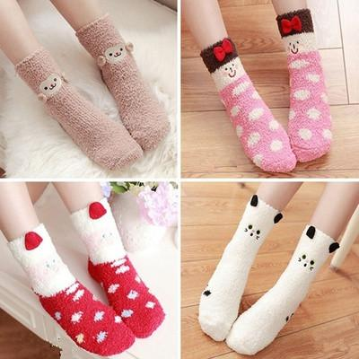 Cutie Animal Fleece Socks SP153678