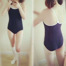 Load image into Gallery viewer, M/L Jfashion Basic Navy Swimsuit SP165894