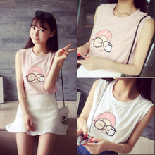 Load image into Gallery viewer, Pink/White Cutie Girl Tank Top Shirt SP152688