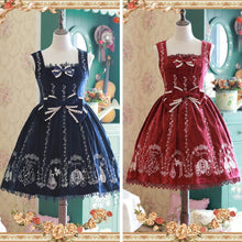 Load image into Gallery viewer, S-XL 4 Colors Lolita Embroidery Velvet Woolen dress SP168526