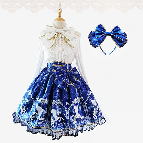 S-XL Dark Blue AP Lolita SK Skirt SP154044