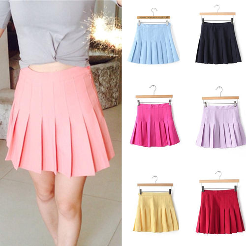 XS-L High Waist Pleated Tennis Pantskirt/Skirt SP153892 Page1