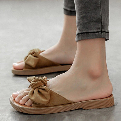 2019 Summer Shoes Women Sandals Flat Fashion Sandals Woman Casual Slides Butterfly Sweet Ladies Shoes Non-slip A1360