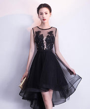 Load image into Gallery viewer, Black Tulle Short Prom Dress, Black Tulle Homecoming Dress