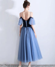 Load image into Gallery viewer, Simple Blue Sweetheart Short Prom Dress, Blue Bridesmaid Dress