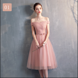 Simple Pink Tulle Bridesmaid Dress, Prom Dress, Wedding Party Dress SP14932