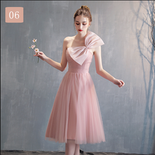 Load image into Gallery viewer, Simple Pink Tulle Bridesmaid Dress, Prom Dress, Wedding Party Dress SP14932
