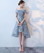 Load image into Gallery viewer, Unique Gray Short Prom Dress, Gray Homecoming Dress