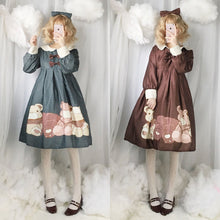 Load image into Gallery viewer, 4 Colors Kawaii Lolita Bear Dress SP13311