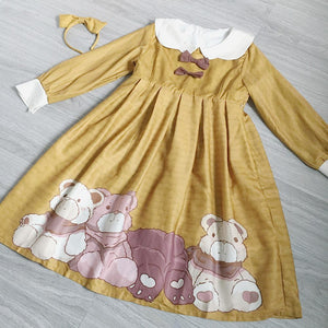 4 Colors Kawaii Lolita Bear Dress SP13311
