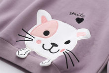 Load image into Gallery viewer, 4 Colors Smile Kitty Fleece Hoodie Jumper S12958
