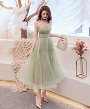 Load image into Gallery viewer, Simple Green Tulle Short Prom Dress Green Tulle Homecoming Dress