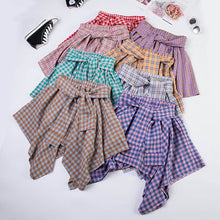 Load image into Gallery viewer, 7 Colors Sweet Plaid Skirt SP14073