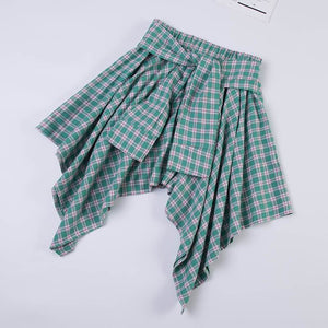 7 Colors Sweet Plaid Skirt SP14073