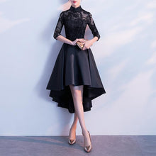 Load image into Gallery viewer, Black/Navy Elegant Party Dress SP14476