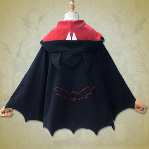 Black Devil Bat Ears Hoodie Coat S12907