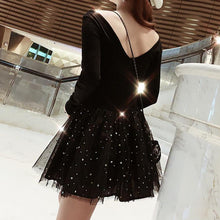 Load image into Gallery viewer, Pre-Order Black Fairy Glaxy Sparkle Paillette Tulle Party Dress SP13525