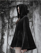 Load image into Gallery viewer, [Reservation]Black Gothic Irregular Embroidered Moon Cape S12935