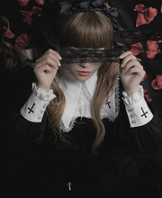 Load image into Gallery viewer, Black Gothic Lolita Crossed Dress SP1710838