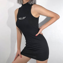 Load image into Gallery viewer, Black Killer Sleeveless Dress SP14050