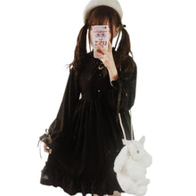 Load image into Gallery viewer, Black Moon Gothic Lolita dress SP1710611