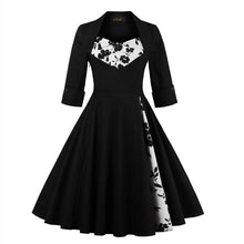 Load image into Gallery viewer, Black Vintage Gothic Dress SP13796