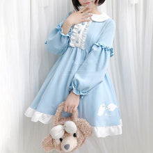 Load image into Gallery viewer, Blue Kawaii Seal Falbala Dress SP13767