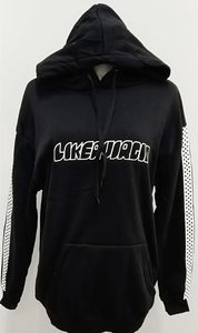 Broken Dreams Club Harajuku Checkerboard Pattern Sleeve Hoodie Jumper SP13696