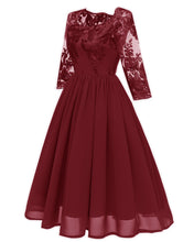 Load image into Gallery viewer, Embroidery Lace A-line Dress SP13904
