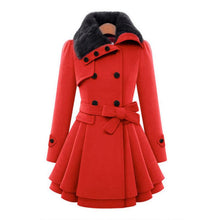 Load image into Gallery viewer, 5 Colors Fur Collar Double-breasted Winter Coat SP343