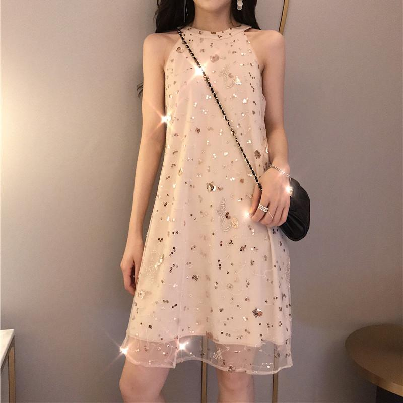 Fairy Space Paillette Sleeveless Dress SP13841
