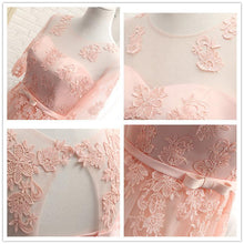 Load image into Gallery viewer, Pink/Grey Sweet Bowknot Lace Dress SP1710899