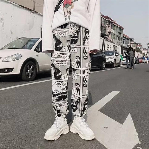 Gothic Comic Ptinting Pants SP13208