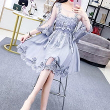 Load image into Gallery viewer, Gray/White/Pink Fairy Lace Flower Dress S12744