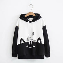 Load image into Gallery viewer, Grey/Black Kawaii Cat Fish Hoodie Jumper SP13432