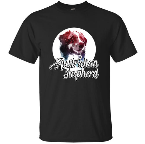 100% Cotton Graphic Australian Shepherd Tshirt Male Euro Size S-5xl Kawaii Men's Tshirt Anti-Wrinkle Hiphop Casual