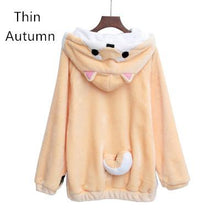 Load image into Gallery viewer, Harajuku Japanese Kawaii Shiba Inu Hoodies Winter Plush Hoodie Sweater SP166974