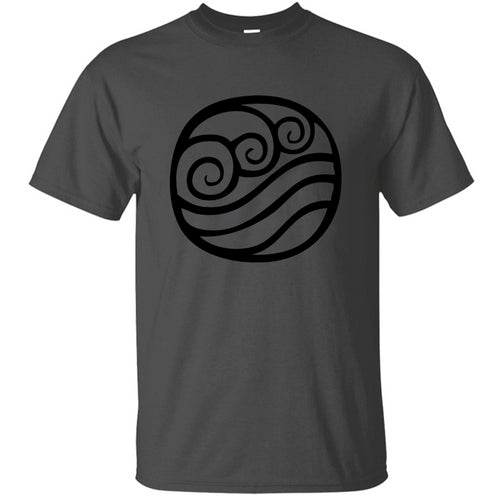 100% Cotton Comical Water Tribe Symbol Vector T-Shirt 2020 Leisure Graphic Mens T Shirt Humorous Big Size S~5xl Clothes
