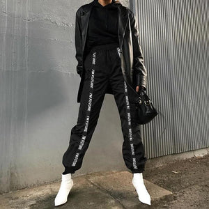 Full Length Loose Sporting Elastic Waist Pants Trousers SP14835